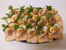 Tojásos-Sonkás party szendvics