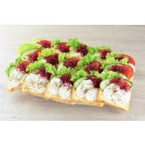 Mozzarella sajtos party szendvics