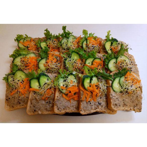 Padlizsánkrémes party szendvics